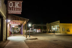 Tombstone Arizona OK Corral Night Stock Photo