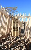Tombstone, Arizona: Old West/Boot Hill Graveyard - Fenced-in Grave Stock Photos