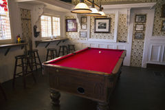 Tombstone, Arizona, USA, April 6, 2015, billiards room in old western town home of Doc Holliday and Wyatt Earp and Gunfight at the Royalty Free Stock Images