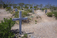 Tombstone, Arizona, USA, April 6, 2015, Boot Hill Cemetery, old western town home of Doc Holliday and Wyatt Earp and Gunfight at t Royalty Free Stock Photography