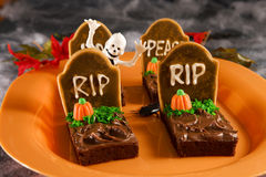 Tombstone brownies Royalty Free Stock Photography