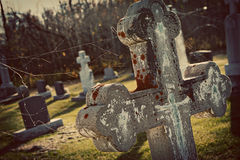 Tombstone in Cemetery Royalty Free Stock Photos