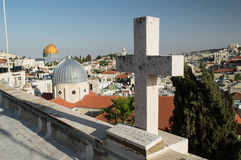 Tombstone christian in Jerusalem Royalty Free Stock Photo