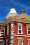 Tombstone courthouse. Historical Tombstone courthouse framed against blue sky Stock Photo