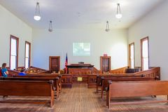 Free Tombstone Courthouse State Park - Courtroom Stock Photography - 156039772