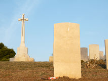 Tombstone and cross Royalty Free Stock Image