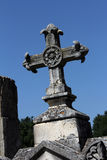 Tombstone cross Stock Image