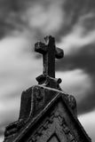 Tombstone cross Stock Photography