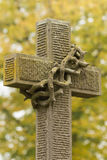 Tombstone cross. At Vienna main-cemetery Royalty Free Stock Photo