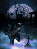 Tombstone crows Royalty Free Stock Photography