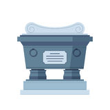 Tombstone crypt vector construction for dead people. Royalty Free Stock Photos