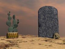 Tombstone - 3D render Stock Photo