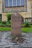 Tombstone of the dog Greyfriars Bobby in Edinburgh Stock Images