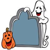 Tombstone Ghost Pumpkin Stock Image