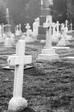 Tombstone and graves Royalty Free Stock Photos