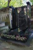 Tombstone of Hector Berlioz. Editorial: Paris, France, July 31, 2016 - The Tombstone of Hector Berlioz at the Montmartre cemetery Stock Image