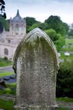 Tombstone on a hill Royalty Free Stock Photography