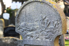 Tombstone at Hollum Cemetery, Island of Ameland, Holland Royalty Free Stock Photo