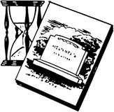 Tombstone With Hourglass Stock Images