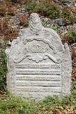 Tombstone at Jewish Cemetery Stock Photos