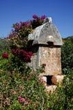 Tombstone, Kalekoy (Simena), Antalya Royalty Free Stock Images