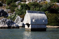 Tombstone, Kalekoy (Simena), Antalya Stock Image