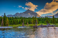 Tombstone Lakes. Scenic summer in the  mountains hiking views from the Tombstone Lakes Backcountry area in Kananaskis Country Alberta Canada Royalty Free Stock Image