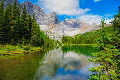 Tombstone Lakes. Scenic summer in the  mountains hiking views from the Tombstone Lakes Backcountry area in Kananaskis Country Alberta Canada Royalty Free Stock Photo
