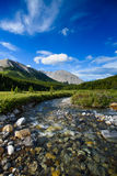 Tombstone Lakes. Scenic summer in the  mountains hiking views from the Tombstone Lakes Backcountry area in Kananaskis Country Alberta Canada Royalty Free Stock Photos
