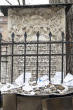 Tombstone matzeva of  Moses on Remuh Cemetery, Krakow, Poland Stock Photo