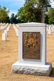 Tombstone in memory of the crew of the Space Shuttle Challenger. WASHINGTON D.C.,USA - AUGUST 15,2016 : Tombstone and Monument in memory of the crew of the Royalty Free Stock Photography