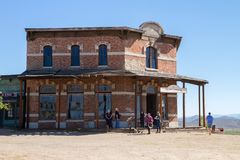 Tombstone Movie 25th Anniversary Mescal Arizona. The town of Townstone, Arizona, celebrated the 25th Anniversary of the movie `Tombstone` which included a tour royalty free stock image