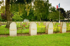 Tombstone Muslim soldiers killed in World War I Stock Photos