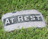 Tombstone Stock Image