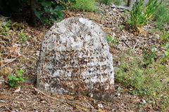 Tombstone on the old village Jewish Cemetery Stock Image