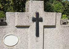 Tombstone in the public cemetery Stock Photography