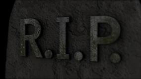 tombstone Repos dans la paix death illustration stock
