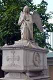 Tombstone. Sculpture of an angel Royalty Free Stock Photography
