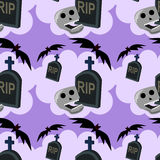 Tombstone seamless background design Royalty Free Stock Images