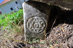 Tombstone with Star of David Royalty Free Stock Photography