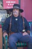 Tombstone Vigilante Days. TOMBSTONE , ARIZONA - AUG 09 : A participant in the Vigilante Days event in Tombstone , Arizona on August 09 2014. Vigilantes dedicated Stock Photo
