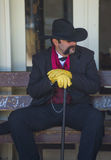 Tombstone Vigilante Days. TOMBSTONE , ARIZONA - AUG 09 : A participant in the Vigilante Days event in Tombstone , Arizona on August 09 2014. Vigilantes dedicated Stock Images