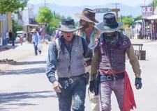 Tombstone Vigilante Days. TOMBSTONE , ARIZONA - AUG 09 : A participants in the Vigilante Days event in Tombstone , Arizona on August 09 2014. Vigilantes Stock Photo