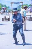 Tombstone Vigilante Days. TOMBSTONE , ARIZONA - AUG 09 : A participants in the Vigilante Days event in Tombstone , Arizona on August 09 2014. Vigilantes Stock Image