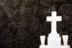 Tombstone and Wall Stock Image