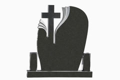 Tombstone on white background Stock Photography