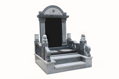 Tombstone with the white background Royalty Free Stock Image