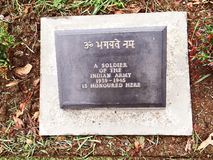World War Cemetery, Kohima, Nagaland, North-East India. Tombstone at World War Cemetery, memorial dedicated to soldiers of the 2nd British Division of the Allied stock images
