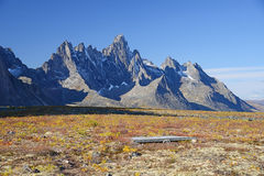 Tombstone yukon. Jagged mountains in tombstone territorial park in yukon, canada Royalty Free Stock Image
