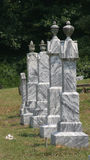 Tombstones. In cemetery Royalty Free Stock Images